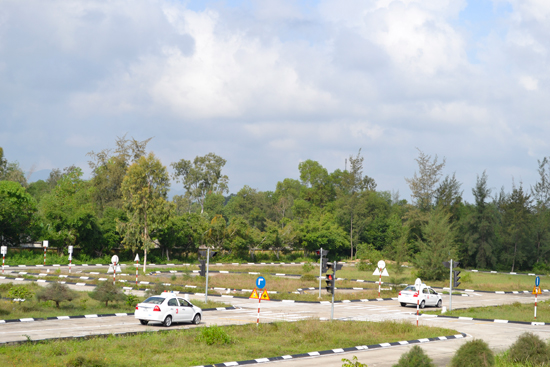 Sân thi thực hành tại Trung tâm Sát hạch lái xe Quảng Nam. Ảnh: C.TÚ