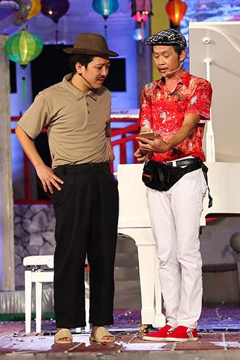 Diễn viên Trường Giang và nghệ sĩ Hoài Linh.