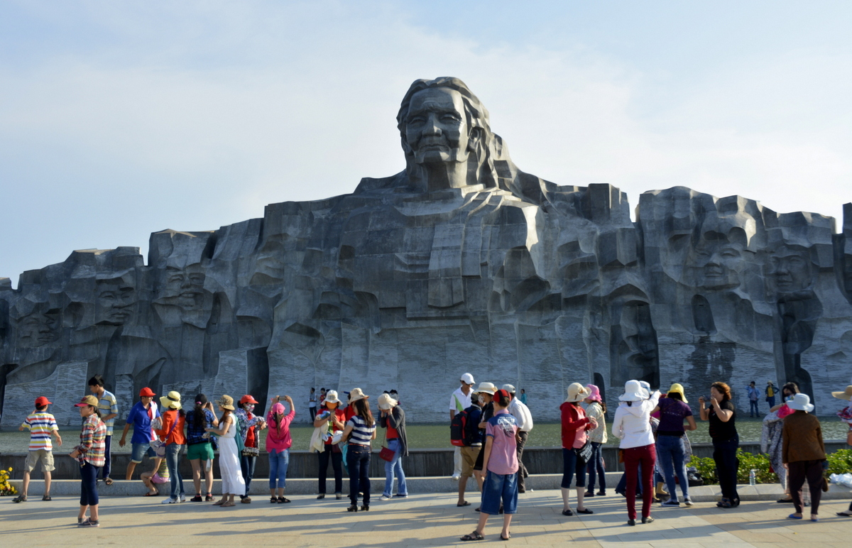 Visitors in the Monument of Vietnamese Heroic Mother