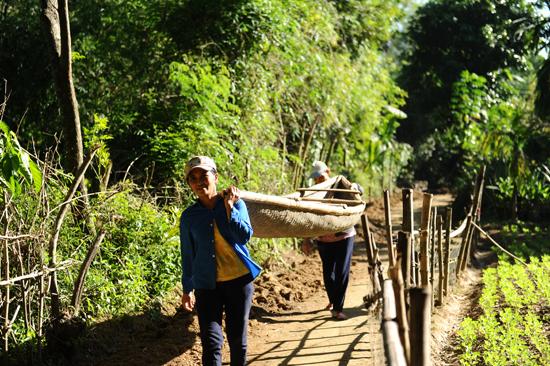 Chuẩn bị ra sông hành nghề chài lưới: Ảnh Minh Hải