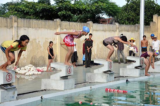 Được đưa vào chương trình giảng dạy trong nhà trường, phong trào bơi lội sẽ có điều kiện để phát triển.