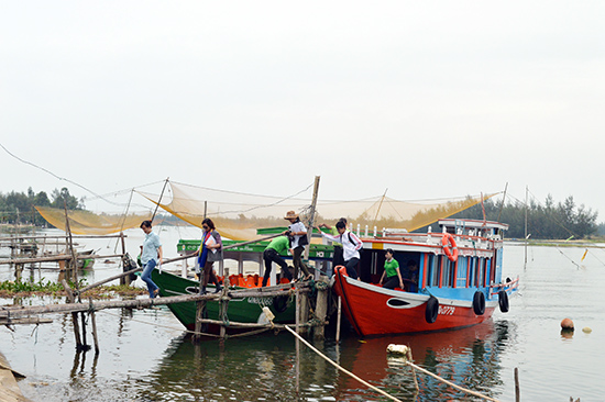A wharf is expected in Tra Nhien community tourism village.  Photo: K.LINH