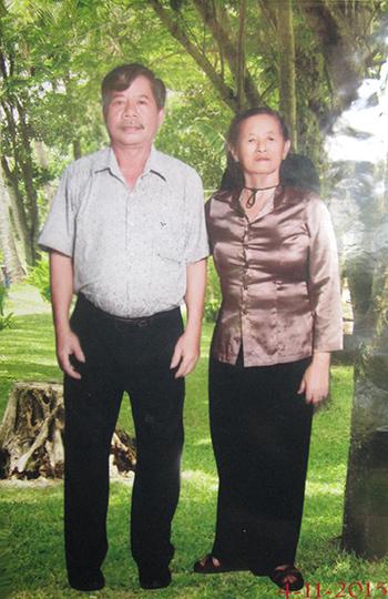 Chị Xuân và Nguyễn Văn Binh nhân ngày vui gặp lại.