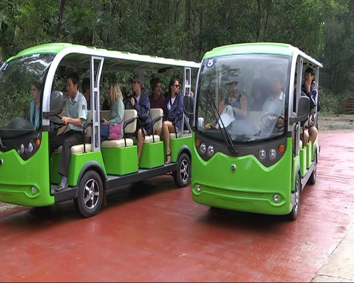 New electric tramcars at My Son Relics