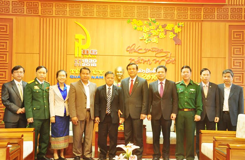 Quang Nam and Sekong provinces leaders.