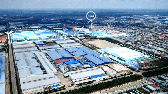 An overview of the production complex of Panko Group in Tam Thang commune. Photo: Hoang Bin
