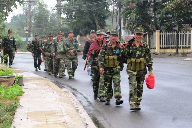 Đại Lộc phấn đấu hoàn thành tốt công tác ra quân huấn luyện năm 2016. Ảnh: Hoàng Liên