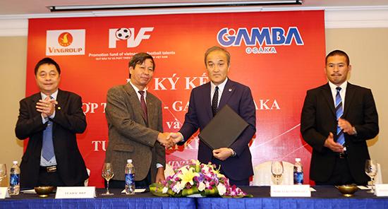 PVF chính thức ký kết hợp tác toàn diện cùng CLB Gamba Osaka của Nhật Bản.