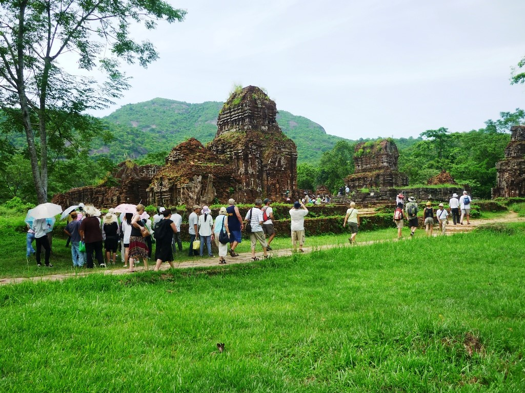 Tourists in My Son Sanctuary. Picture: vietnamtravelnews
