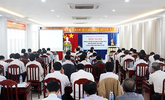 Ban Chỉ đạo ISO tỉnh tổ chức hội nghị đánh giá tình hình xây dựng và áp dụng HTQLCL trên địa bàn tỉnh. Ảnh: H.GIANG