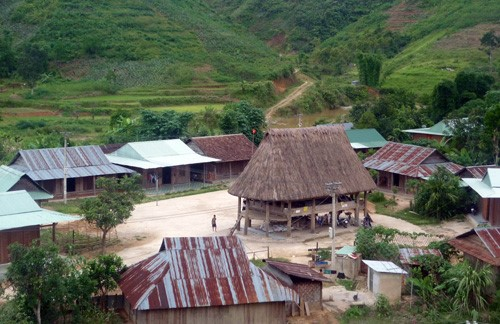 Cotu's village  in Tay Giang mountainous district, Quang Nam province.