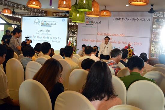 Toàn cảnh buổi họp báo giới thiệu Liên hoan ẩm thực quốc tế Hội An 2016
