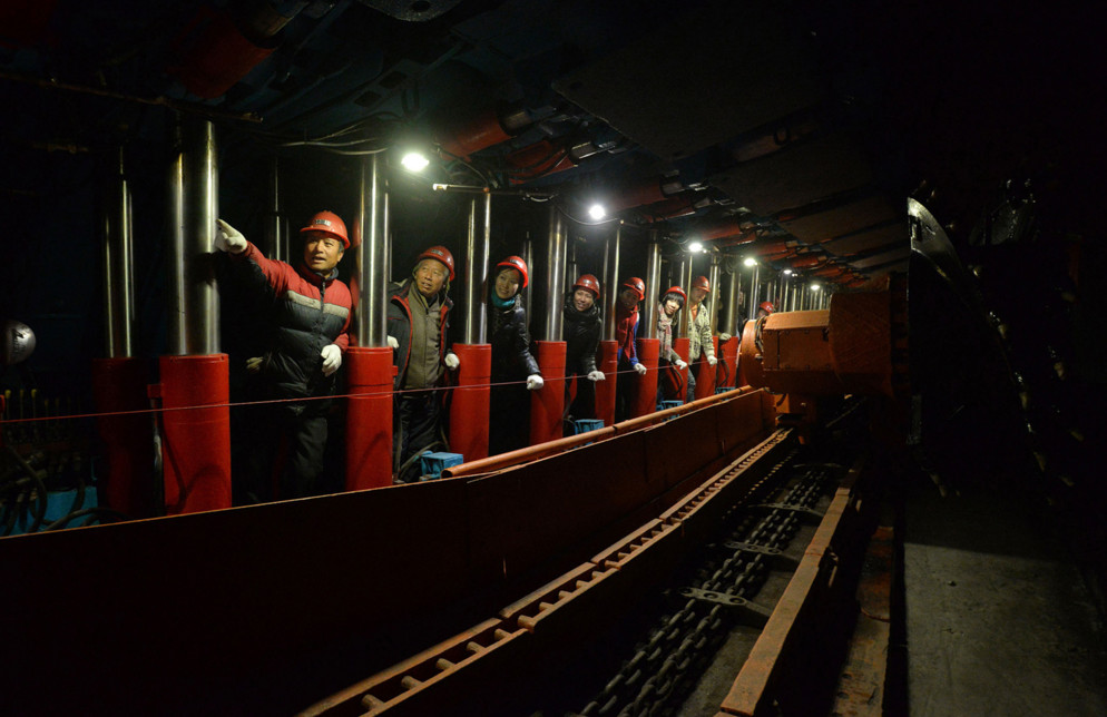 Tourists visit a coal mine re-purposed as a tourist attraction at Gutuo Village on January 6, 2016 in Handan, Hebei Province, China. #  ChinaFotoPress / Getty