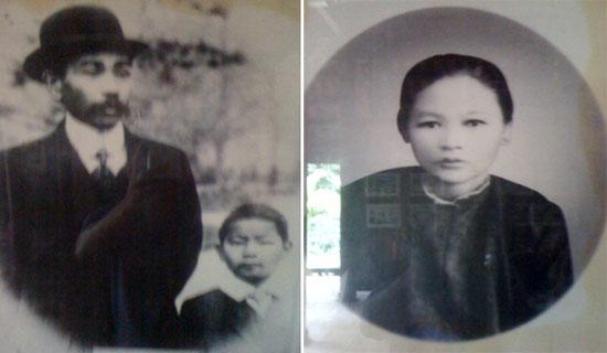 Ông bà Phan Châu Trinh và con trai Phan Châu Dật.