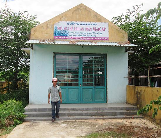 Sản phẩm bí đầu ra, nhà sơ chế rau quả an toàn ở xã Duy Phước (Duy Xuyên) phải bỏ hoang lâu nay.Ảnh: HOÀI NHI
