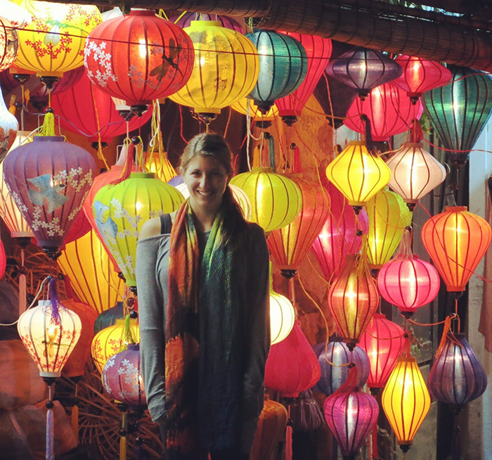 A tourists is impressed by the lanterns in Hoi An city (Picture: bestkindoflost)