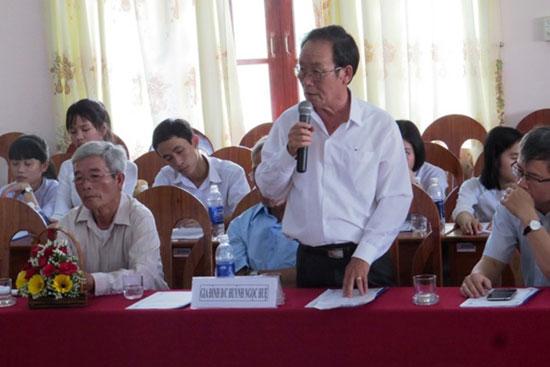 Hội thảo về Huỳnh Ngọc Huệ tại Đại Lộc. Ảnh: Bích Liên