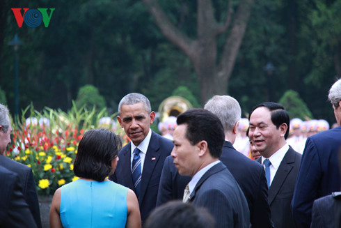 President Tran Dai Quang welcomes the US delegation