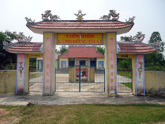 Tiền hiền làng Đồng Thái.