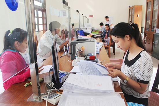 """Mô hình """"một cửa điện tử"""" ở thị xã Điện Bàn. Ảnh: VĂN HÀO"""