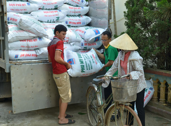 Sản phẩm phân bón Phú Mỹ được bà con nông dân tin dùng.