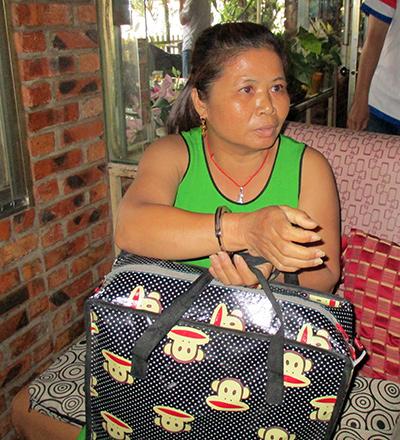 Đối tượng Chu Thị Oanh, người cung cấp tiền giả để các đối tượng khác tiêu thụ bị bắt giữ tại Đắk Nông. (Ảnh do Cơ quan điều tra cung cấp).