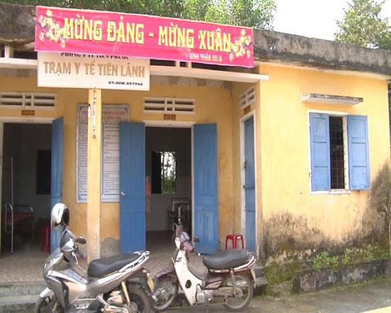 Trạm y tế xã Tiên Lãnh là một trong nhiều trạm y tế xuống cấp nghiêm trọng tại huyện Tiên Phước.