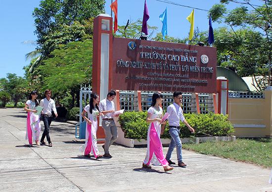 Trường Cao đẳng Công nghệ - kinh tế và thủy lợi miền Trung. Ảnh: MINH HẢI