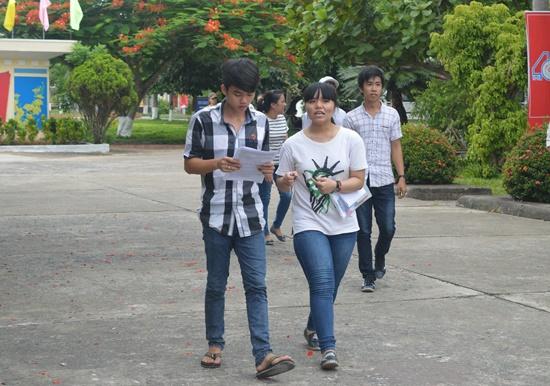 Các thí sinh tự tin khi tham dự xong kỳ thi