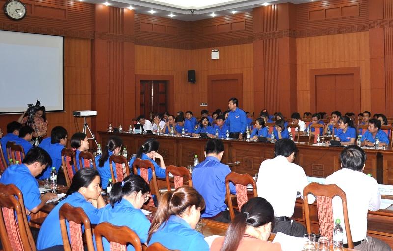 Tuổi trẻ Đoàn khối Các cơ quan tham dự diễn đàn. Ảnh: V.A