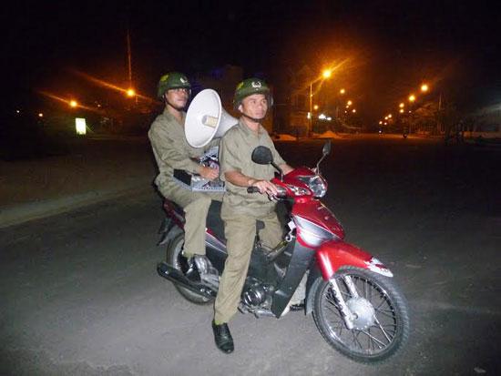 """Mô hình """"Tiếng loa an ninh"""" ở phường Tân Thạnh góp phần đảm bảo an ninh trên địa bàn. Ảnh: T.C"""