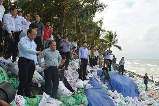 Chính phủ luôn quan tâm đến vấn đề xói lở bờ biển Cửa Đại.