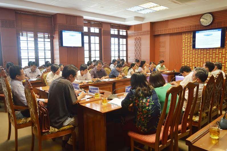 Quang cảnh hội nghị tại điểm cầu tỉnh Quảng Nam