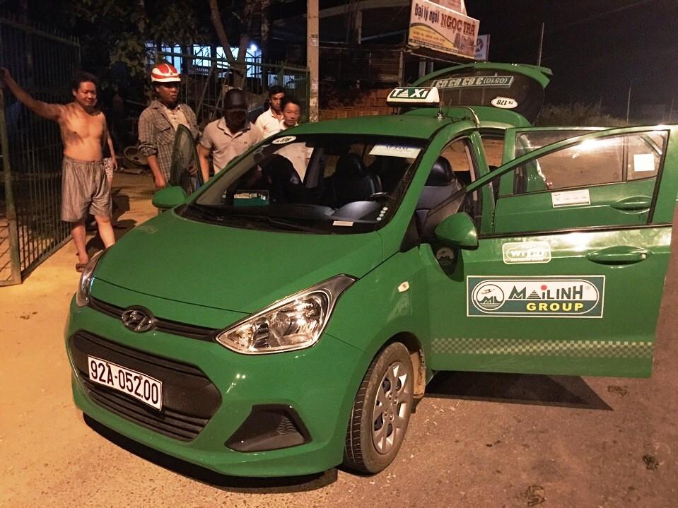 Chiếc xe taxi Tú thuê để vận chuyển ma túy đá