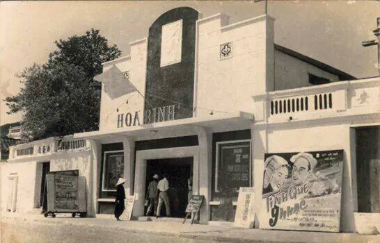 Rạp chiếu phim xưa ở Hội An và Sài Gòn. Ảnh: Internet