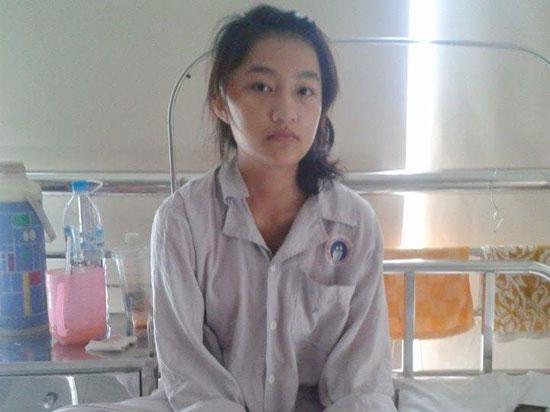 Thanh Thảo đang điều trị ở Bệnh viện Chợ Rẫy (TP.Hồ Chí Minh). Ảnh: B.T.M