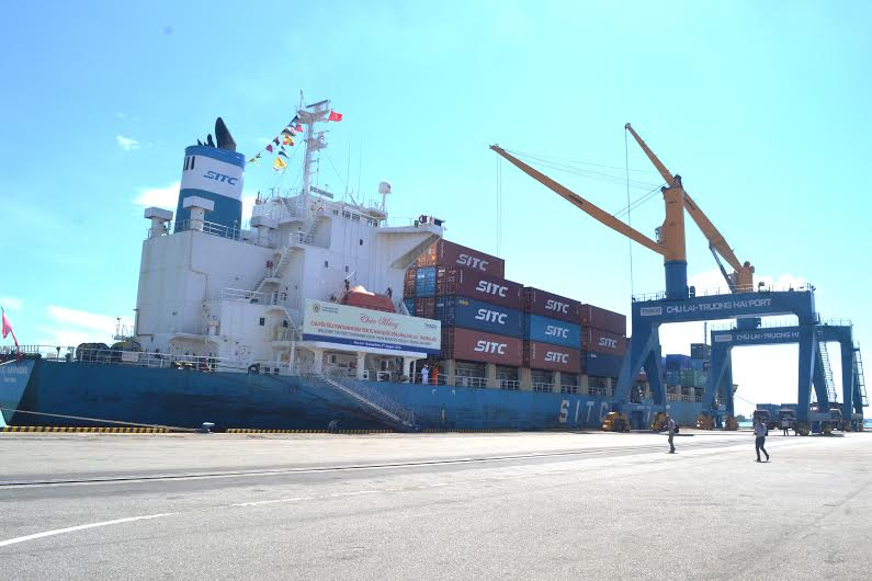 Tàu có trọng tải hơn 20 nghìn tấn cập cảng Chu Lai - Trường Hải sau hành trình từ cảng Incheon (Hàn Quốc).