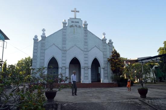 Ngôi nhà thờ được xem là được xây từ thời Dinh trấn còn hiện diện tại đất Điện Phương