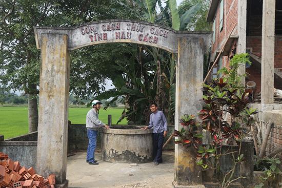 vườn nhà ông Cửu Tý, nơi tộc Bùi dự định xây nhà lưu niệm cho thi sĩ Bùi Giáng.ảnh: T.Việt