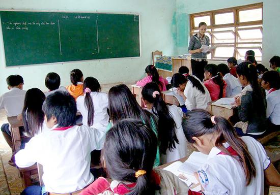 Các trường ở vùng cao đã sẵn sàng chuẩn bị cho năm học mới. TRONG ẢNH: Một lớp học ở vùng cao Tây Giang. Ảnh: THÀNH CÔNG