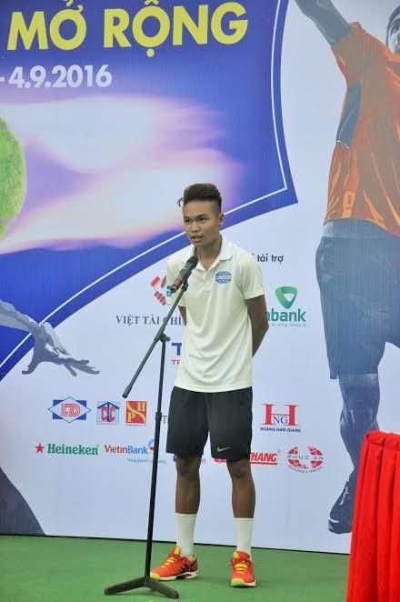 Tay vợt chuyên nghiệp Trịnh Linh Giang tuyên hứa