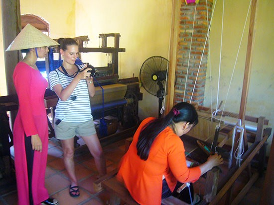 A weaving department in Hoi An city