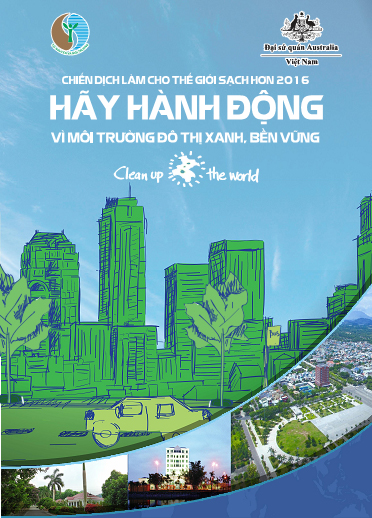 The poster in response to the making the world cleaner campaign 2016 in Vietnam. Picture: Vietnam Ministry of Natural Resources and Environment