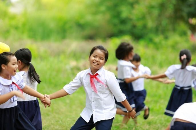 Niềm vui của các em học sinh trường Tiểu học số 2 Quảng Thành, Huế trong ngày khai trường 2016