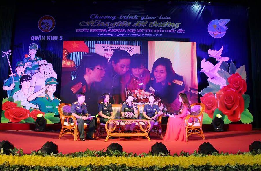 Giao lưu các gương cán bộ, hội viên phụ nữ Quân khu 5 tiêu biểu
