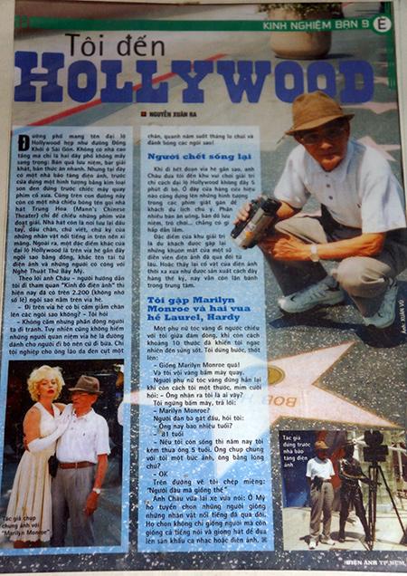 Một bài báo của ông Nguyễn Xuân Ra viết sau khi thăm đại lộ Hollywood (Hoa Kỳ).