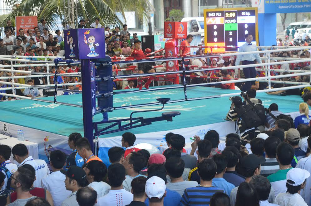 """Bộ môn Muay Thái được kì vọng sẽ tạo """"cơn mưa vàng"""" cho đoàn TTVN  vào chiều 26.9."""
