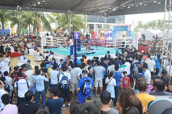 Các trận đấu Muay Thái tại ABG5 luôn thu hút sự quan tâm đặc biệt của khán giả.