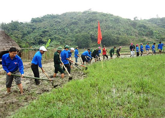 Khai hoang đất trồng lúa nước ở miền núi là công trình được tuổi trẻ Quảng Nam chú trọng thực hiện trong thời gian qua.