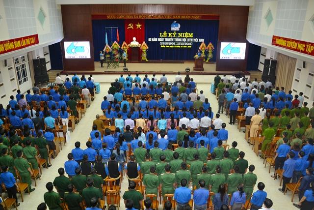 Lễ kỷ niệm 60 năm ngày truyền thống Hội LHTN Việt Nam. Ảnh: PHAN TUẤN
